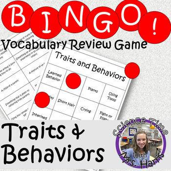 Science BINGO! Traits and Behaviors Vocab Review