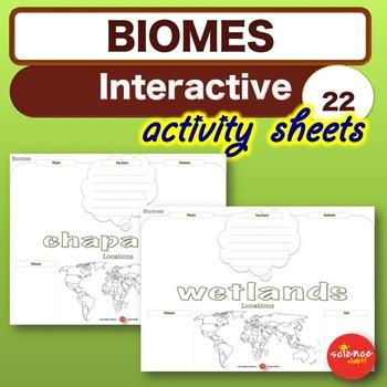 Science * ECOSYSTEMS & BIOMES - Interactive Activies * NO PREP