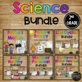 Science BUNDLE for 2nd Grade, Forms of Energy, Force and Motion, Life Cycles
