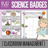 Science Badges for Middle School (Classroom Management & Reward System)