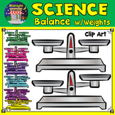 Science - Balances - Scales with Weights Clip Art