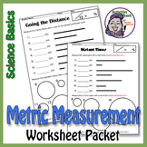 Science Basics Metric Measuring Worksheet Packet