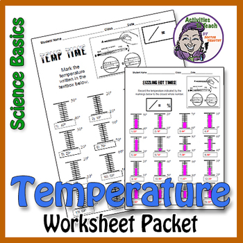 Science Basics Reading & Marking Temperature Worksheet Packet