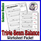 Science Basics Reading a Triple Beam Balance Worksheet Packet
