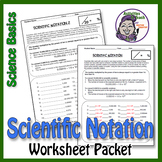 Science Basics Scientific Notation Worksheet Packet