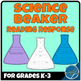 Science Beaker Shaped Reading Response Sheets for Any Book