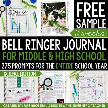 Science Bell Ringer Journal for the Entire School Year: FREE 2 Week Sample