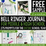 Science Bell Ringer Journal for the Entire School Year: FR