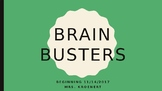 Science Bell Ringers / Brain Busters