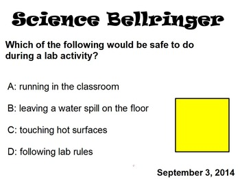 Science Bell Ringers (December)
