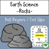 5th - 6th Grade Science Bell Ringers / Exit Slips - Rock Cycle