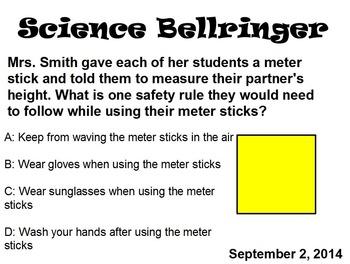 Science Bell Ringers (November)