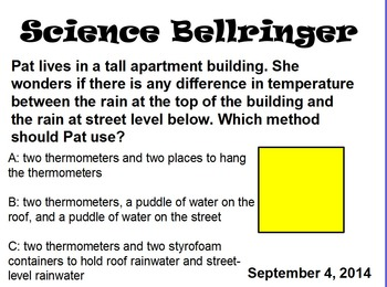 Science Bell Ringers (October)