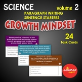 Science Bell Ringer Sentence Starters Paragraph Writing Discussion Vol.2 NO PREP