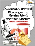 Science Beneficial and Harmful Microorganisms Morning Work