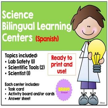 Science Bilingual Learning Centers / Centros Bilingües de Ciencias (Bundle)