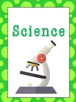 8 science subjects binder covers and side labels kdg high school