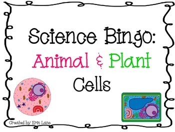 Science Bingo: Animal and Plant Cells