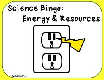 Science Bingo: Energy & Resources