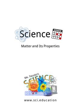 Science Bingo: Matter and Its Properties