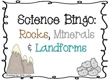 Science Bingo: Rocks, Minerals and Landforms
