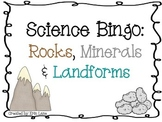 Science Bingo: Rocks, Minerals and Landforms