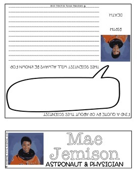 Science Biography Project - Mae Jemison