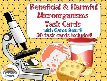 Science Biology Beneficial & Harmful Microorganisms Task Cards Game Activity