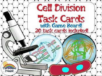 Science Biology Cell Division Task Cards Game Activity