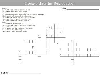 Science Biology Reproduction Wordsearch Crossword Anagrams Keywords