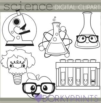 Science Black Line Clipart