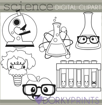 Science Black Line Clipart