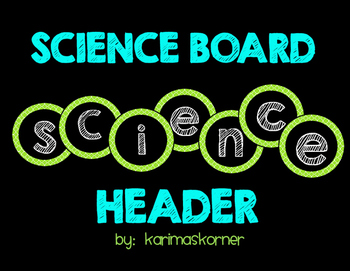 Science Board Header