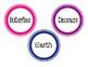 Science Book Bin Labels