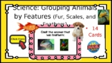 Science Boom Cards:Grouping Animals by Features (Fur, Scales, and Feathers) SKL2
