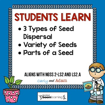 Plant Seed Dispersal Boom Cards™ and Reading Passage