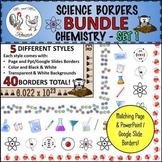 Science Borders BUNDLE: Chemistry - Set 1 {Portrait Page &