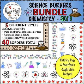 Science Borders BUNDLE: Chemistry - Set 1 {Page and Slide