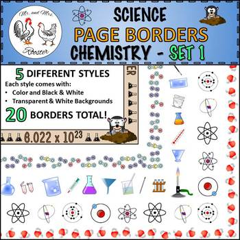 Science Page Borders: Chemistry - Set 1 {Portrait Borders}