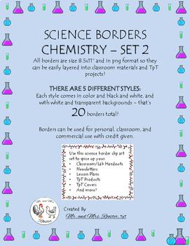Science Page Borders: Chemistry - Set 2 {Portrait Borders}