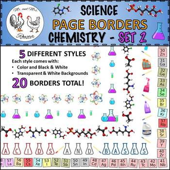 Science Page Borders: Chemistry - Set 2
