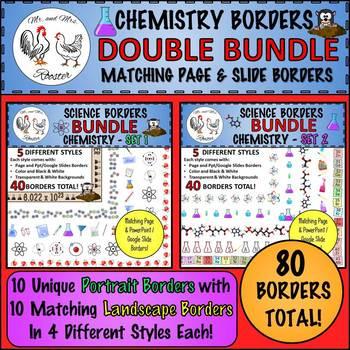 Science Borders DOUBLE BUNDLE: Chemistry {Page & Landscape Borders}