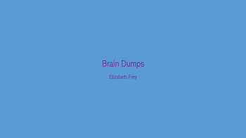 Science Brain Dump/ Anchor Charts