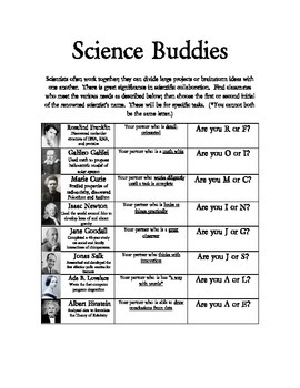 Science Buddies - Partner Page - Interactive Notebook