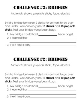 Science- Building Challenges Booklets