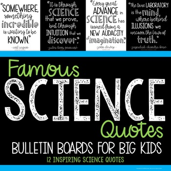 Science Bulletin Board Famous Quotes Middle School Stem