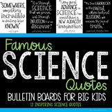 Science Bulletin Board - Famous Quotes - Middle School - STEM