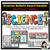 Science Bulletin Board Header (Primary Colors)