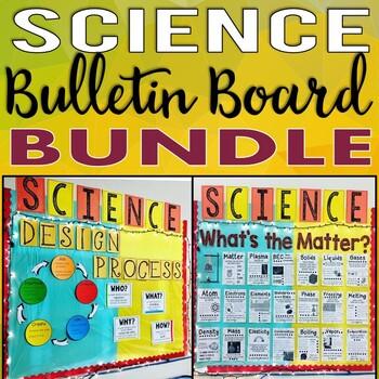 Science Bulletin Board Kit BUNDLE: Engineering Design Process & States of Matter