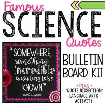 Science Bulletin Board Kit and Analysis Activity - Sagan - Something Incredible